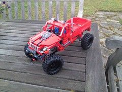 Lego 42029 with custom tyres (JEPPO's Lego Technic) Tags: woopwoop