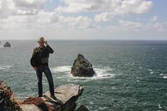 Lee at Boscastle (JGMarshall Photography) Tags: ocean uk travel sea summer england people cloud holiday landscape photography coast interesting cornwall britain joe marshall atlantic adventure joemarshall jgmarshall