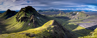 Iceland: Volcanic Landscape Panorama
