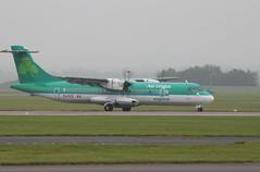 EI-FCZ (Seanan) (aitch tee) Tags: landing aerlingus seanan atr72 walesuk cardiffairport stobart namedaircraft eifcz