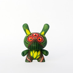 Swamp Thing (WuzOne) Tags: painting toy diy comic geek thing vinyl kidrobot swamp collectible custom commission dunny arttoy medicom vinyltoy munny wuzone