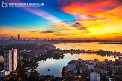 vl_03575 (Hanoi's Panorama & Skyline Gallery) Tags: sunset sky panorama lake skyline architecture skyscraper canon asian landscapes asia capital skylines landmark hanoi asean appartment hni skyscrapercity banh