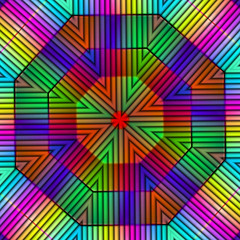 In the jungle the lion sleeps to night. (Marco Braun) Tags: abstract color triangle kaleidoscope colourful coloured farbig bunt mucho abstrakt abstrait kaleidoskop dreieck abstriat