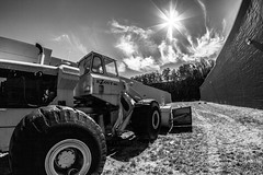 EZOUT INC. (Western Maryland Photography) Tags: sky blackandwhite sun snow earth zombie maryland plow burst martins beams inc mover lavale alleganycounty ezout