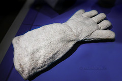 Asbestos Gauntlet Utility Glove (Asbestorama) Tags: museum industrial textile fabric mineral glove woven fibers asbestos fireproof fibrous