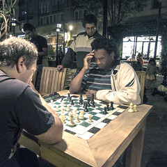 Decisions (Cre8 Thru Action) Tags: street people canon outdoor chess competition games move moves patience decisive