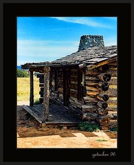 Abiqui NM   Curley's Cabin (the Gallopping Geezer 2.9 million + views....) Tags: old cinema newmexico building abandoned film canon movie cabin decay scenic 2006 historic faded logcabin worn weathered movieset decayed curley geezer corel abiqui billycrystal cityslickers structur jackpalance curleyscabin