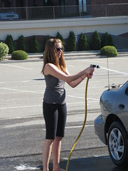 Hosing down (jamica1) Tags: charity woman canada car bc okanagan columbia spray hose wash british kelowna