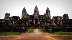 View of Angkor Wat from the east (sunlitnights) Tags: temple ruins cambodge cambodia khmer buddhist buddhism angkorwat east siemreap angkor hinduism