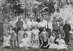 Norra ngby Folkskola, klass 5e, vrterminen 1938 (Olle Sundh) Tags: stockholm norra skola klass bromma svv skolfoto ngby folkskola skolbarn vultejusvgen