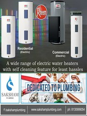 A wide array of Pressurized Electric Water Heaters with self cleaning for least hassles… (sakshamplumbing) Tags: sanicon energy solution rheem water heaters india pressurized electric