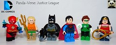 Panda-Verse Justice League (Random_Panda) Tags: lego figs fig figures figure minifigs minifig minifigures minifigure purist purists character characters comics superhero superheroes hero heroes super comic book books films film movie movies tv show shows dc justice league batman green lantern wonder woman aquaman flash the superman panda verse figbarf figbarfs