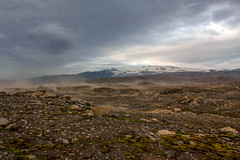 Sandstorm on the Fimvörðuháls trail, Iceland (thorrisig) Tags: 17082012 fimmvörðuháls himininn sandfok iceland ísland island icelandicnature íslensknáttúra landscape landslag southiceland southoficeland thorrisig thorfinnursigurgeirsson þorrisig thorri thorfinnur þorfinnur þorri þorfinnursigurgeirsson eyjafjallajökull desert view greatview vastness wilderness outdoors suðurland
