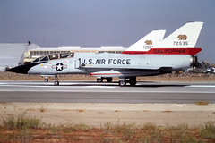 57-2535 Convair F-106B Delta Dart of USAF at Fresno-Air Terminal, CA in Oct 1981 (johnyates2011) Tags: 572535 f106 convairf106 convairf106deltadart usaf f106deltadart
