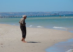Old Man and the Sea (mikecogh) Tags: grange old man frail beach shore