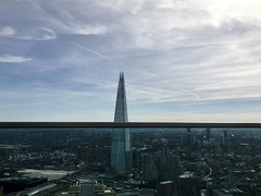 The Shard from the Sky Gardens (julcresus) Tags: london shard architecture sky gardens blue