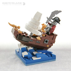 Zombie Pirate's Journey (dvdliu) Tags: zombie pirate ship collectible minifigs cmf moc lego scene sea