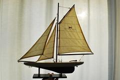 Unter vollen Segeln... ~ Under full sail (FrauN.ausD.) Tags: segel segelboot takelage gegenlicht nikon rig sailing boat miniatur modell backlight knoten knots