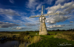 Thurne Mill on a Spring Day (jammo s) Tags: thurnemill riverthurne spring clouds 10stop longexposure norfolk norfolkbroads bluesky lightroom canoneos6d canonef1740mmf4lusm