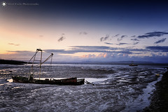 Abandoned Fishing Boat - The Stone Jetty, Morecambe - North West (Silent Eagle  Photography) Tags: sep silent eagle photography northwest abandoned fishingboat morecambe thestonejetty seascape mar sea sky clouds sunset weather outdoor