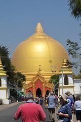 "Burma. Sagaing. The egg shaped Kaungmudaw Pagoda. (Anne & David (Use Albums)) Tags: burma myanmar irrawadi ""irrawadi river trip"" ""rv princess panhwar"" irrawaddy sagaing ""sagaing hill"" ""kaungmudaw pagoda"" ""egg shaped"