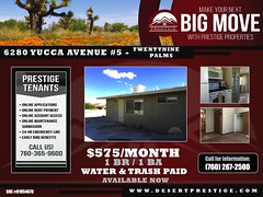 FOR LEASE: 6280 Yucca Ave #5 (prestige_properties) Tags: realestate property management propertymanager propertymanagement forrent rentals apartment apartments broker agent desert 29palms yuccavalley joshuatree desertlife socal california