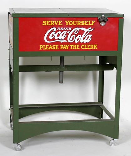 1930 Restored Glascock Double Case Cooler ($952.00)