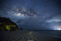 MilkywayMaldives (cd photography2015) Tags: reethi beach baa atoll canon eos 6d stars milkyway clouds sea indian ocean trees sand water