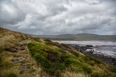 take me there (Keith Midson) Tags: track path brunyisland clouds island tasmania stormy storm rain raining windy seascape coastal coastline coast sea seas waves beach