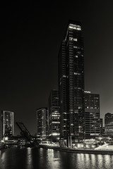 Chicago River (Jovan Jimenez) Tags: sony ilce 6500 12mm f28 a6500 alpha mono monochrome monochromic building city architecture night sky emount carl zeiss touit hdr scape cityscape autopano autopanopro auto pano panoramic panorama kolor nik collection adobe