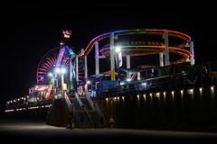 Santa Monica (Sean Sweeney, UK) Tags: nikon d7000 dslr california usa america la los angeles losangeles santa monica santamonica pier beach rides lights lowlight dark rollercoaster coaster
