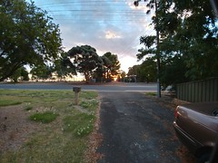 26Mar17  Almost forgot a photo for the day but the brilliant sunset came through my window and reminded me. By time I got outside to take a pic, it was almost gone!  #photoaday #2017pad #sunset #reynella #southaustralia