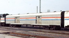 Amtrak baggage car --  former New York Cenrtal --  on the Desert Wind in 1982 (Tangled Bank) Tags: train railway railroad amtrak passenger old classic heritage vintage baggage car former new york cenrtal desert wind 1982 nyc pc rolling stock