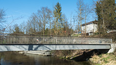 LOR830 Lorzenweid Pedestrian Bridge over the Lorze River, Hagendorn, Cham, Canton of Zug, Switzerland (jag9889) Tags: bridge cantonzug lorze river cham footbridge switzerland 20170317 europe beambridge concrete 2017 6330 bach balkenbrücke beton bridges bruecke brücke ch cantonofzug crossing fluss fussgängerbrücke gkz676 helvetia infrastructure kantonzug outdoor pedestrianbridge pont ponte puente punt reuss reusstributary schweiz span structure suisse suiza suizra svizzera swiss waterway zg zug jag9889