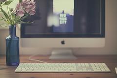 Sueños (Graella) Tags: travel viajar newyork nuevayork escritorio desk home hogar stilllife bodegon flores flowers spring primavera pc apple teclado ordenador