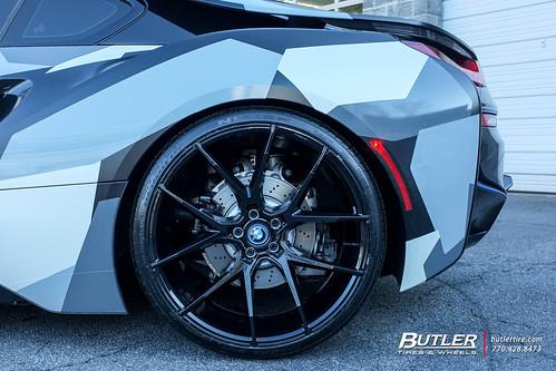 Lowered Camo Wrap Bmw I8 With 22in Savini Bm14 Wheels A Photo On