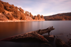 Lake Gregory, Crestline CA. (mcook1517) Tags: crestline lake gregory california mountains water trees driftwood longexposure clouds sky fishing forest