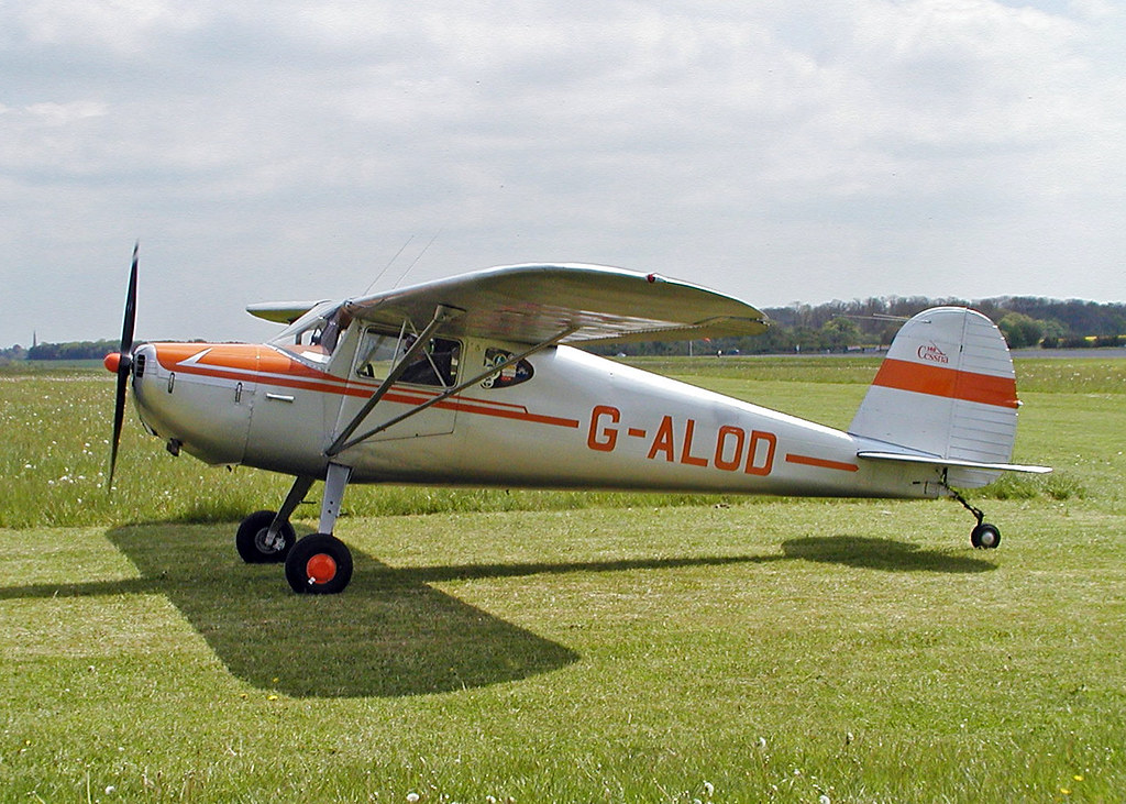G-ALOD (wiltshirespotter) Tags: cessna 140 kemble