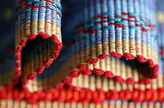 Woven Table Mat (Through Serena's Lens) Tags: mm macromondays clothtextile woven tablemat placemat dof bright colorful weaving macro 7dwf