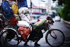 Carry me a shop (N A Y E E M) Tags: street morning rain roundabout monsoon windshield rickshaw today bangladesh drizzle chittagong norahmedroad kazirdewri