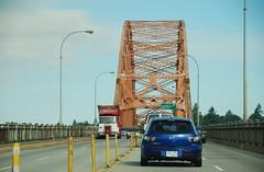 Surrey BC (Ian Threlkeld) Tags: nikon driving bridges disposal surrey refuse mack newwestminster garbagetrucks macktrucks pattullobridge d80 wasteremoval