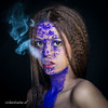 Smokin' (Hot!) (Richard Canten) Tags: portrait studio purple smoke portret coloured cigarettesmoke colouredportrait holipowder richardcanten