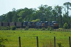 CSX N158-02 Orlando, FL (brickbuilder711) Tags: train spur orlando florida boxcar curt coal aline stanton unit 81 csx ouc gevo 3167 7920 es44ah unitcoal n158 oucx