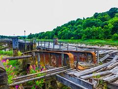 The River Avon near Brunel's Clifton Suspension Bridge at Low Tide (Le monde d'aujourd'hui) Tags: summer abandoned docks river bristol rust decay jetty urbandecay rusty lowtide suspensionbridge clifton cliftonsuspensionbridge brunel riveravon