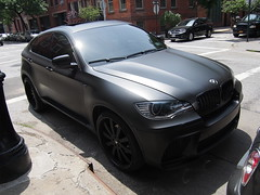 BMW M6 Mattblack in Greenwichvillage