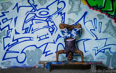 Strange meditation (Lalykse) Tags: blue white man black guy wall bench grey gris graffiti rocks grafiti pierre tag vincent bleu meditation mur blanc banc homme 70300 nikond3200 mditation