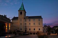 st josefskirche auf dem kahlendorf wien (~ernesto~) Tags: wien austria blau ernesto nachtaufnahme oesterreich blauestunde stjosef kahlenberg aschi josefskirche
