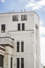 Corner detail, the Pyrene Building, Great West Road. (Gordon Haws) Tags: moderne artdeco a4 deco brentford greatwestroad thegoldenmile egyptienne wallisgilbertpartners pyrenebuilding westlinkhouse