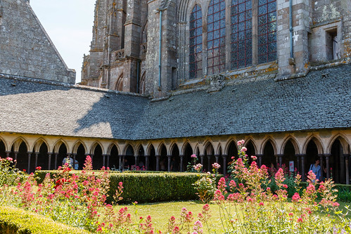 Cloître de l'abbaye du Mont Saint-Michel