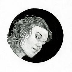 Icon (Gwendolinoleum) Tags: portrait blackandwhite white black pencil ink sketch drawing sketchbook gwendolinoleumgangrene gwendolinoleum